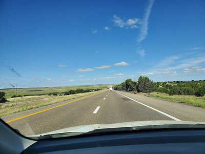 mile after mile after mile of New Mexico