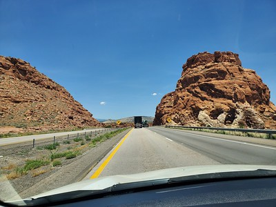 Finally start getting into some interesting scenery just as you get to Arizona.