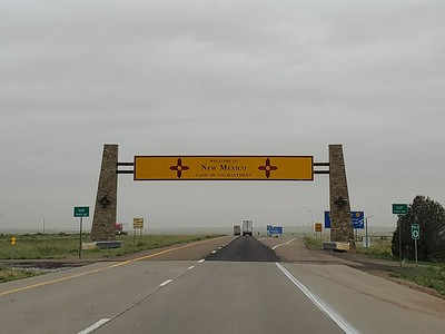 Made it to New Mexico, a state which may rival Kansas when it comes to boring to drive across.