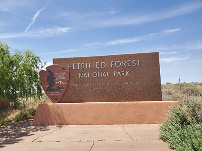 The schedule worked so we stopped at Petrified Forest, which also includes Painted Desert .