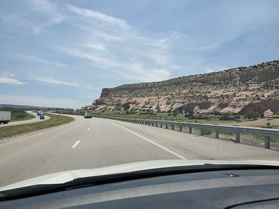 Right at the New Mexico / Arizona line