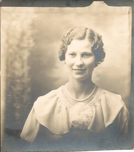 Lotus Mae Martin (1934) - high school graduation