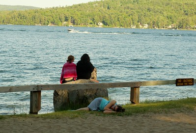 Here is a photo of some lazy teenagers.   Be sure not to take a bath here.