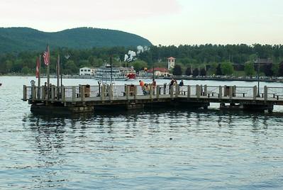 Faraway shot of the dock.