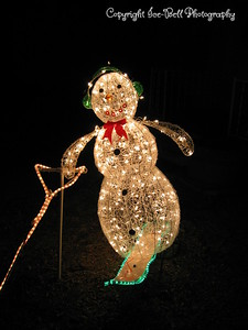 12/18/2006  Phase two: Lighting of the water ski.  Close up of the snowman and ski.