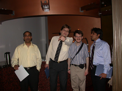 This photo was taken by Doris Schultz           In the photo (From left to right): Srinivasa Nallamotu, Roy Uwe Rojas Wahl, Brendan McDonald and Nabeel Shamim
