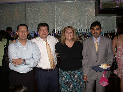 This photo was taken by Doris Schultz           In the photo (From left to right): Robert Cain, Damir Fatovic, Martha Foley and Shakeel Munshi.
