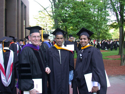 This photo was taken by Doris Schultz           In the photo (From left to right): Dr. Murrae J. Bowden, Srinivasa Nallamotu and Nabeel Shamim.