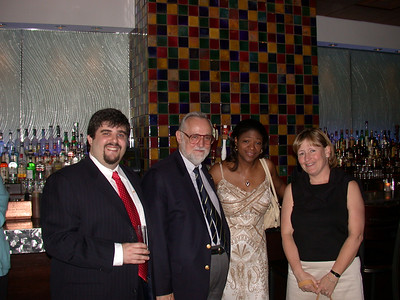 This photo was taken by Doris Schultz           In the photo (From left to right): Damian Bucovsky, Donald N. Merino, Ph.D., P.E., (UNKNOWN), and Suzanne MutzDarwell