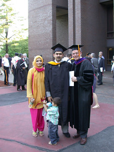 This photo was taken by Doris Schultz           In the photo (From left to right): Shakeel Munshi's wife, son, Shakeel Munshi and Dr. Murrae J. Bowden.