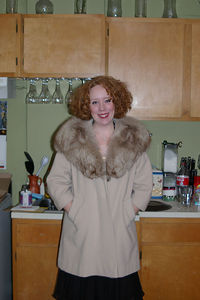 Laura's hot fur coat from her Great Aunt.