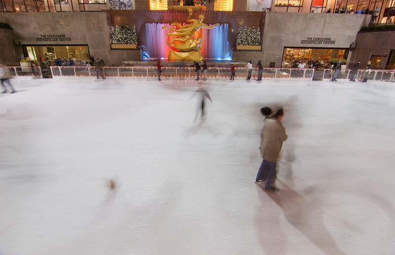 Rockefeller Center Ice Rink Season: The rink at Rockefeller Center typically opens Columbus Day weekend and stays open through early April.