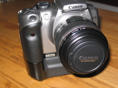 Canon Digital Rebel with Battery Grip and EF-S 60mm f/2.8 Macro lens