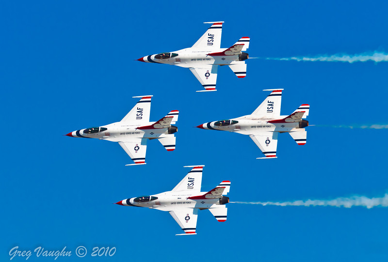 USAF Thunderbirds Demo at Wings Over Houston 2010 at Ellington Field in Houston, Texas