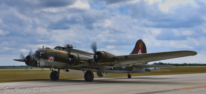 Boeing B-17G Flying Fortress Thunderbird at Wings Over Houston 2010 at Ellington Field in Houston, Texas