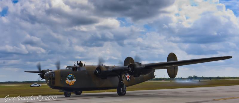 B-27 Ol' 927 at Wings Over Houston 2010 at Ellington Field in Houston, Texas