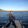 Katie pretends to be a captain.<br /> Buffalo Bill State Park<br /> Cody, WY