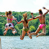 Isaac, Brynn Claire and friends on Lake Zumbro