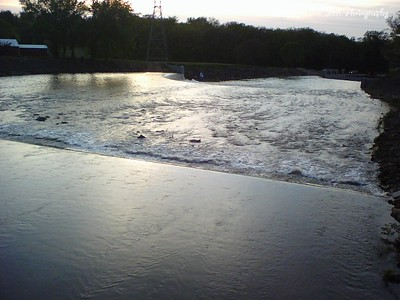 05/07/2007  Lake Shawnee Spill Way.  Sometime between 7:30 and 8:30pm.  Over 12 hours since the rain stopped.  From top of walkway looking toward 29th street.