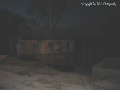 05/29/03  Side view of the house at night.