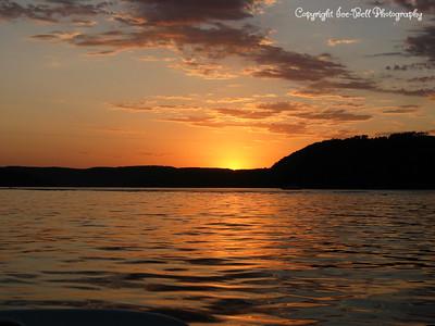 7/18/03  Sunset on Table Rock Lake.