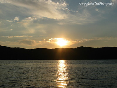 07/24/03  Sunset on Table Rock Lake.  Picture taken from the lake right out in front of the house.