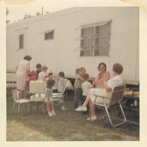 Little Trailer.  Looks like a birthday party.