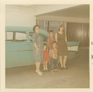 Mom, Gaye, Theo, Will and Jody - May 1967