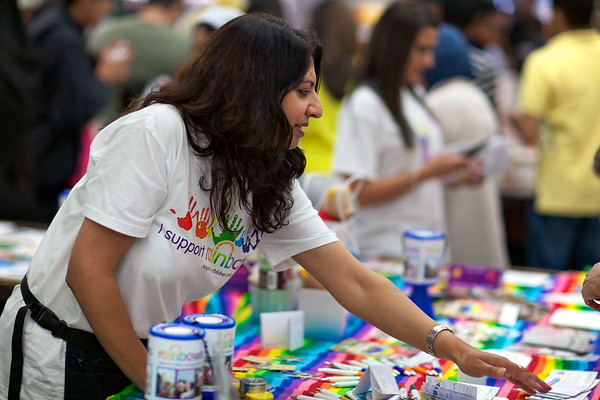 I support Rainbows - Leicester Mela