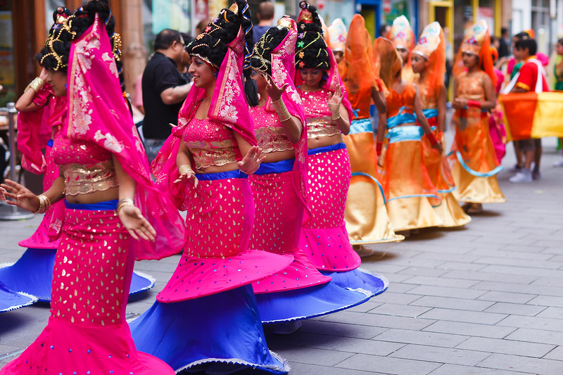 Dancing Queens from Leicester Mela