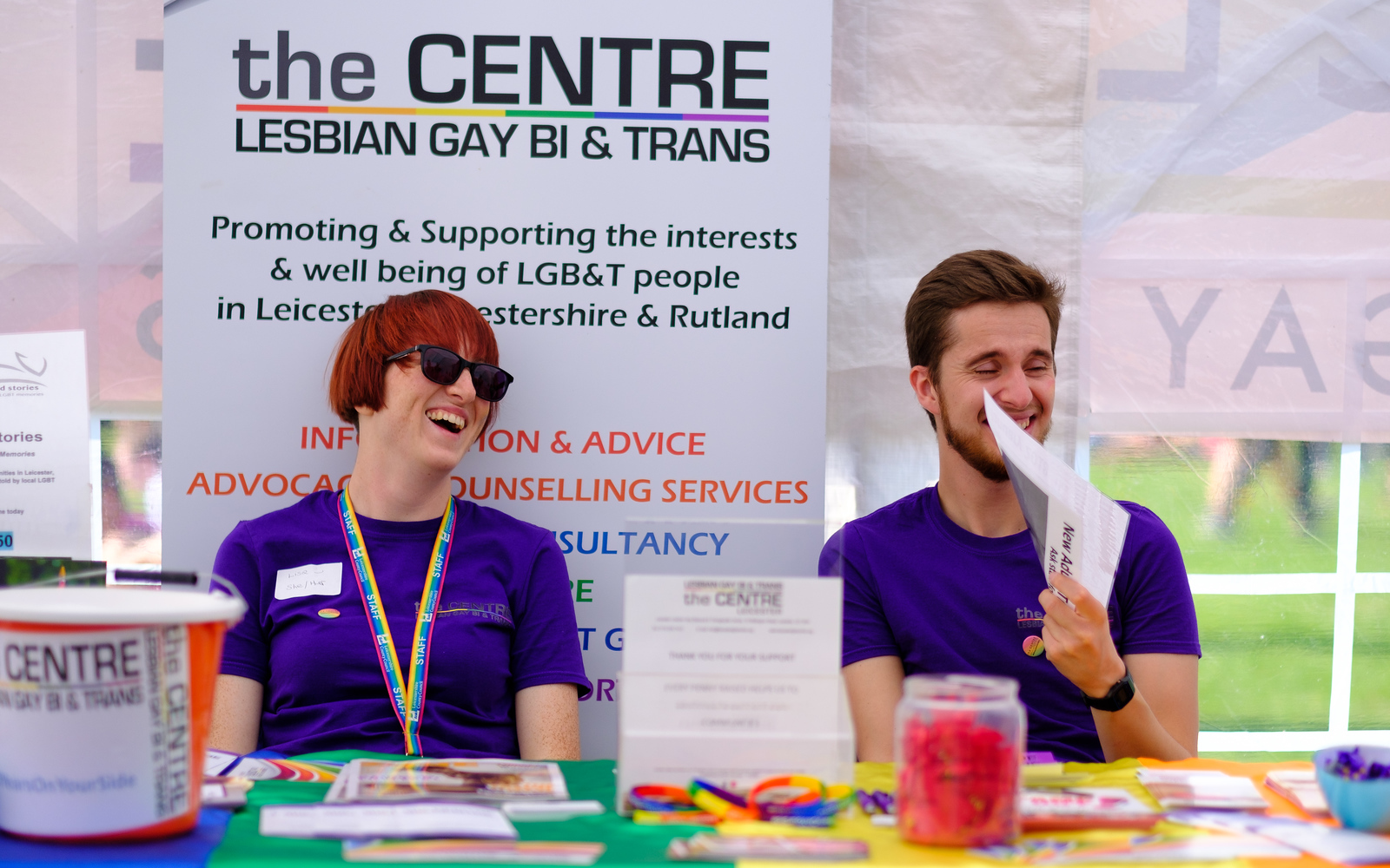 Leicester LGBT Centre stand