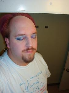Eyeshadow and eyeliner, eyelid