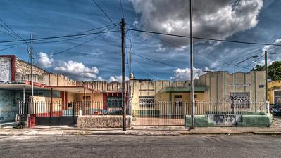 Art deco houses, Calle 72, Merida, Mexico
