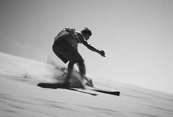 Swishing through the Sand