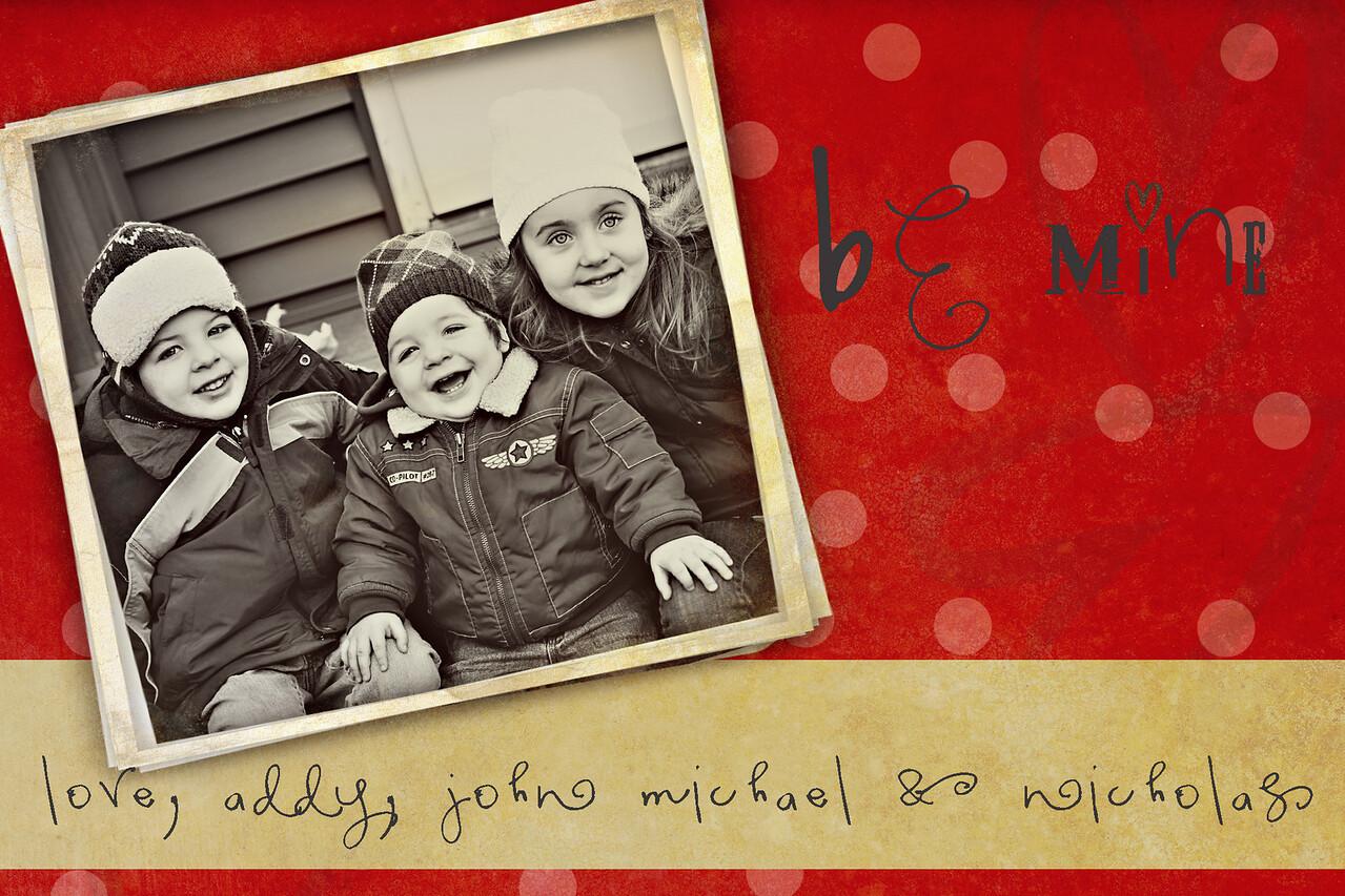 Valentines Day Card my kids