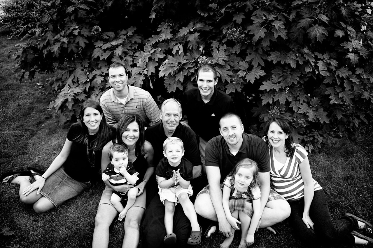 Worthington Family Picture 2009 bw