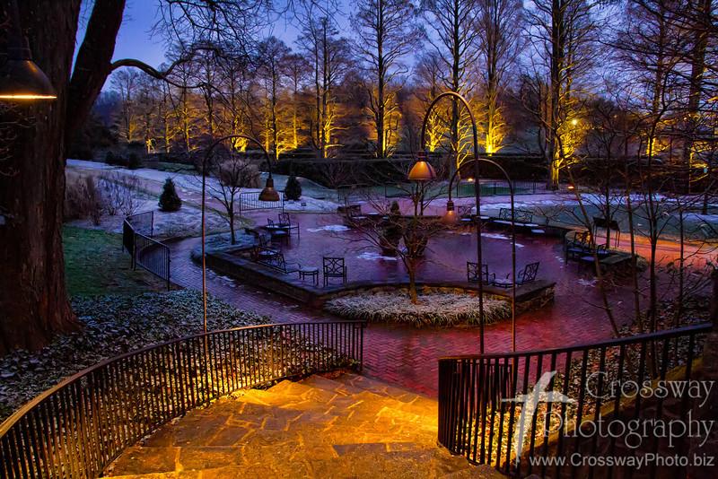 Winter Dusk at Longwood Gardens