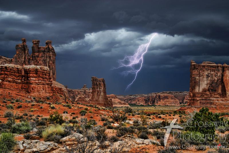 Lightening Strike - Arches National Park, Utah