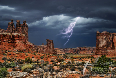 Lightening Strike - Arches National Park, Utah