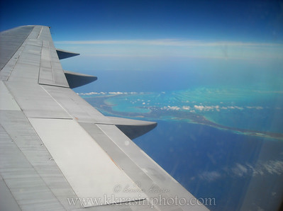 The next couple are of random Caribbean islands we could see from the window