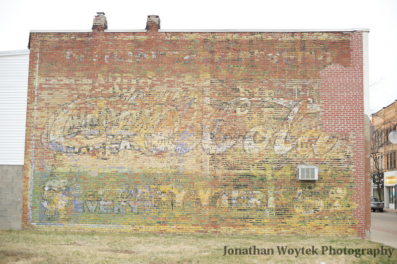 Former site of Liberty Theatre.  This advertisement must have predated the theatre.