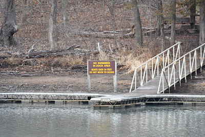 The Tonka boat dock on the castle side of the cove, taken from the spring trail parking lot.  500mm