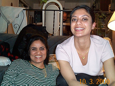Kiran Mausi & Anu Bahl at home in NJ, USA