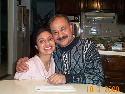 Anu Bahl with Satish Mausaji at home in NJ, USA