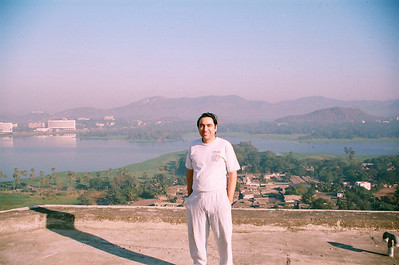Ariel view of Powai Lake from Hiranandani Gardens. Suchit Nanda just after taking the pictures