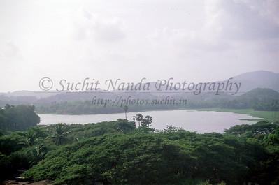 Powai Lake seen across IIT Campus as viewed from the Nanda Netcom office at Gateway Plaza, Hiranandani Gardens, Powai, Mumbai