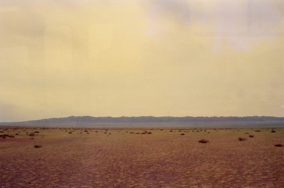 Vast expanse of the Gobi Desert, Mongolia.