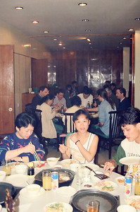 Lunch at IDRC's PAN Asia Networking First All Partners Conference meeting which was held in Gengish Khan Hotel, UB (Ulaan Baator), Mongolia in 1997.