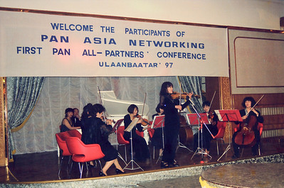 Attended IDRC's PAN Asia Networking First All Partners Conference meeting which was held in Gengish Khan Hotel, UB (Ulaan Baator), Mongolia in 1997.
