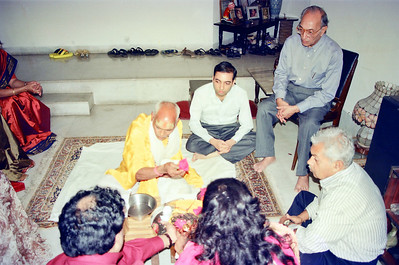 Post wedding of Manu & Sarika Nanda. Pictures from Eden-4. Their room, Swami Atmanandaji and family & friends.